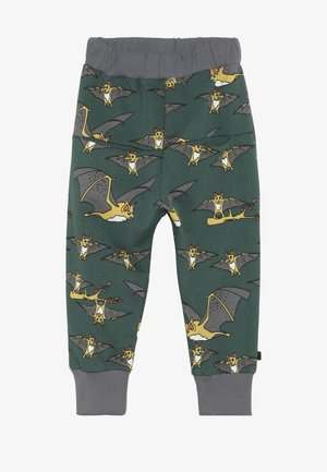 PANTS WITH BAT - Tracksuit bottoms - hunter green