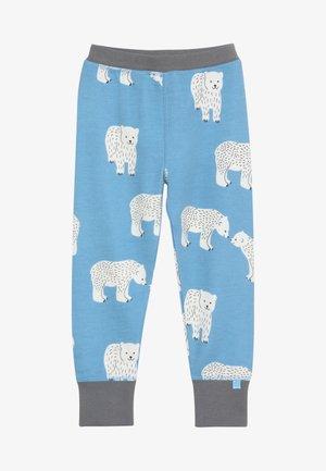 BABY PANTS WITH POLAR BEAR - Tygbyxor - winter blue