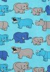 Småfolk - RHINO AND ELEPHANT - Langarmshirt - blue atoll