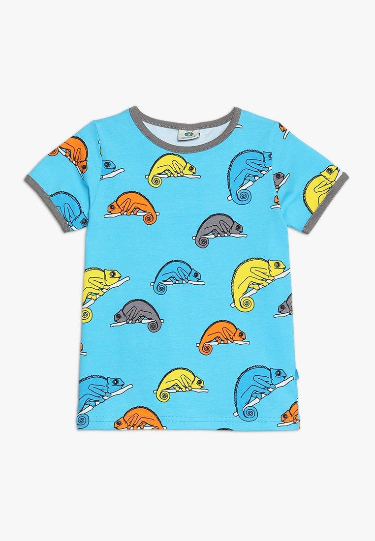 Småfolk - CHAMELEON - T-shirt print - blue atoll