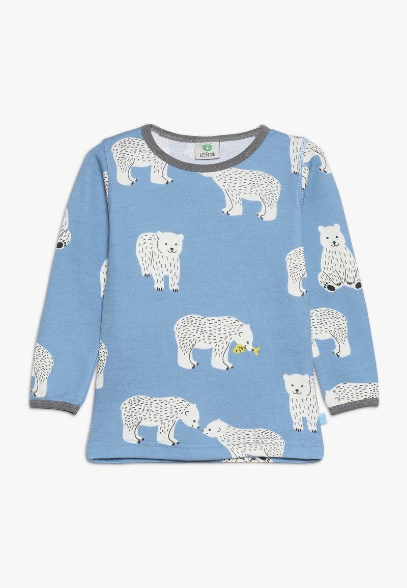 Småfolk - POLAR BEAR - Langærmede T-shirts - winter blue