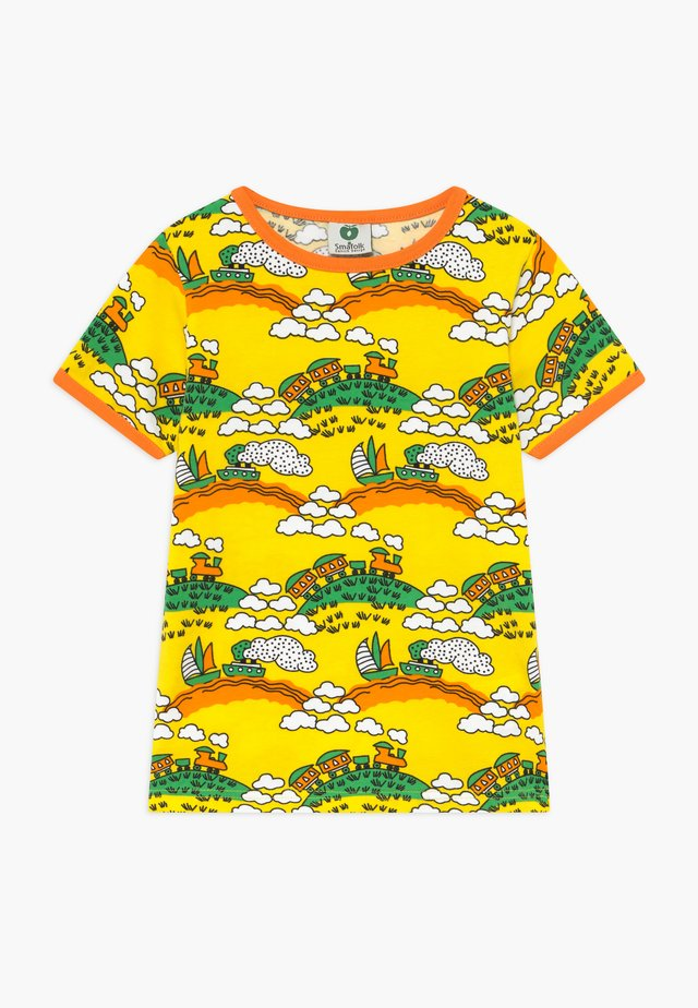 TRAIN - T-shirt print - yellow