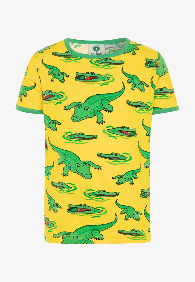 CROCO - T-shirt print - yellow