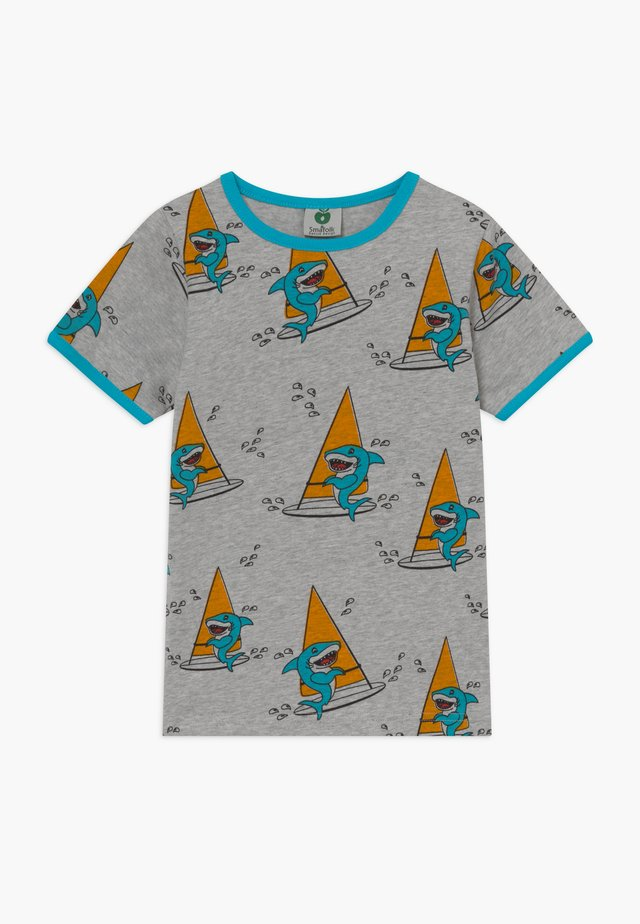 SURF SHARK - Print T-shirt - grey