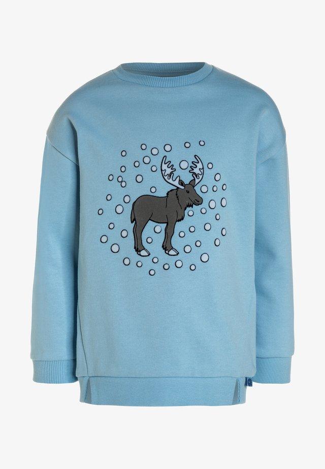 WITH MOOSE - Sweatshirt - air blue