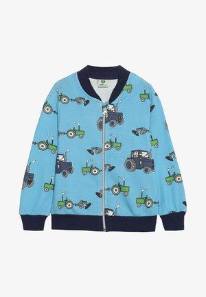 ZIPPER TRACTOR - Zip-up hoodie - sky blue