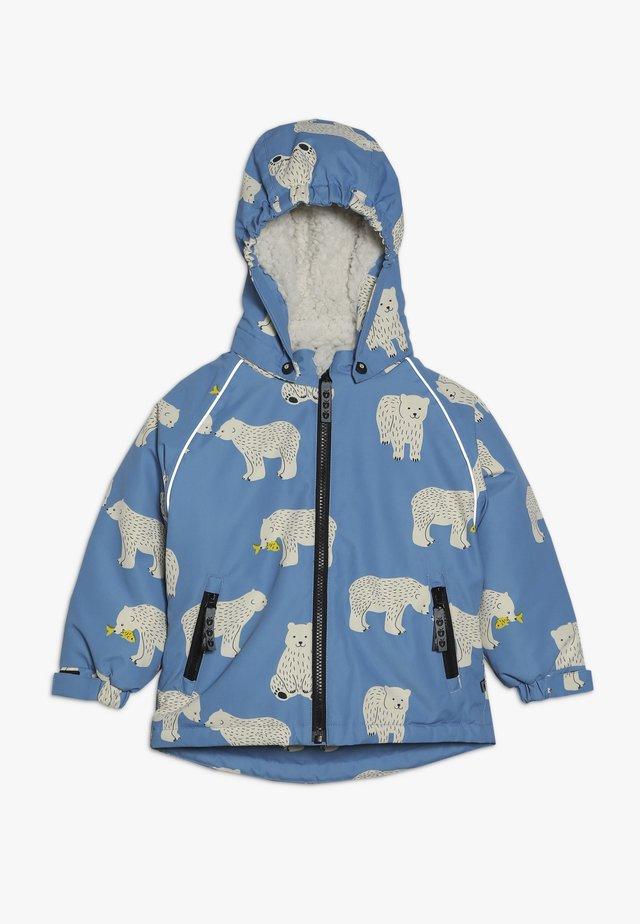 JACKET FOR BOY WITH POLAR BEAR - Kurtka zimowa - winter blue