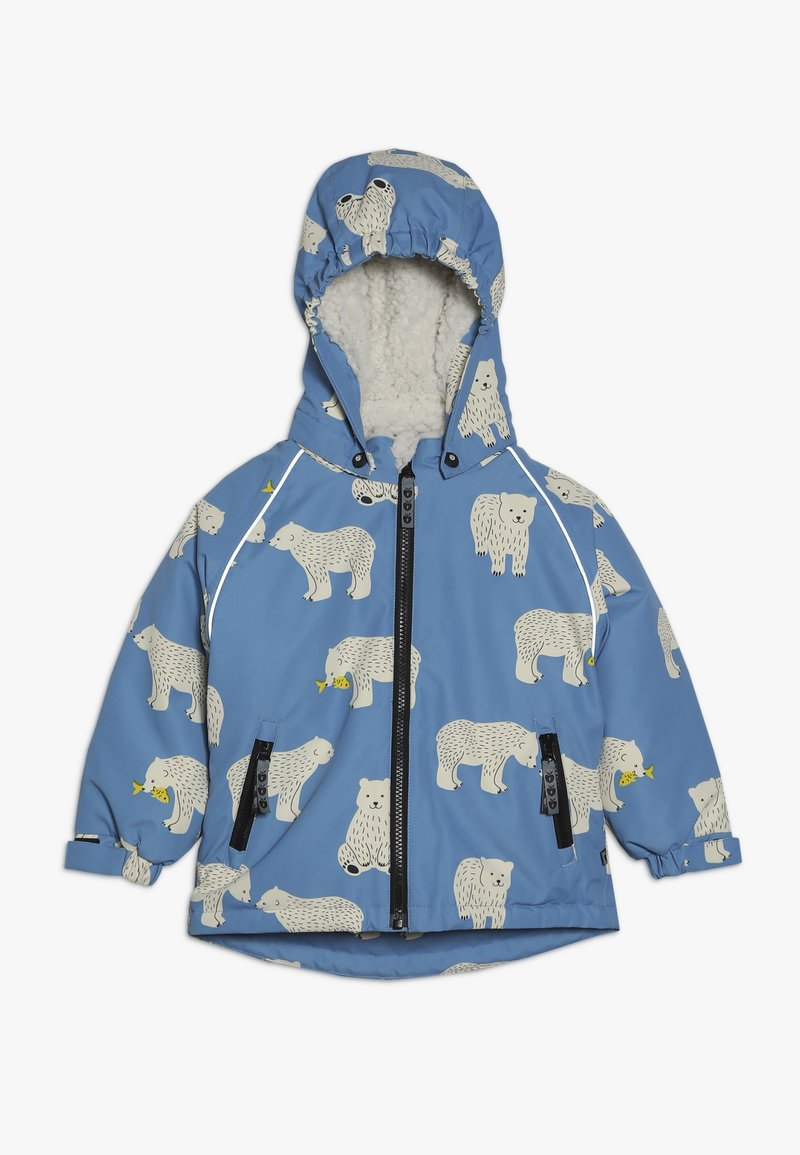 Småfolk - JACKET FOR BOY WITH POLAR BEAR - Winterjacke - winter blue