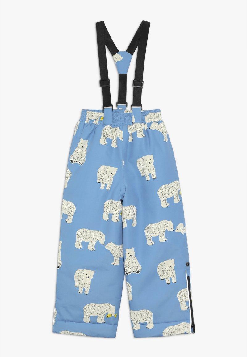 Småfolk - PANTS WITH POLAR BEAR - Schneehose - winter blue