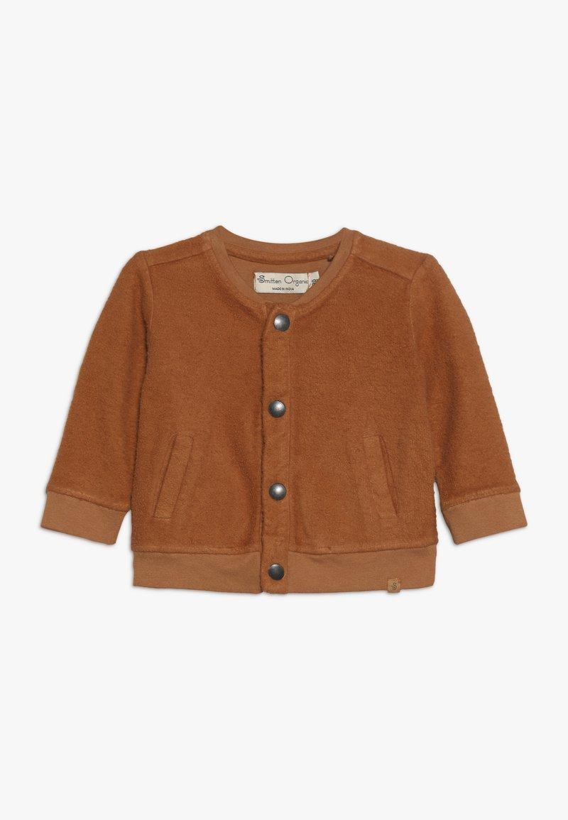 Smitten Organic - CARDIGAN BABY - Mikina na zip - sudan brown