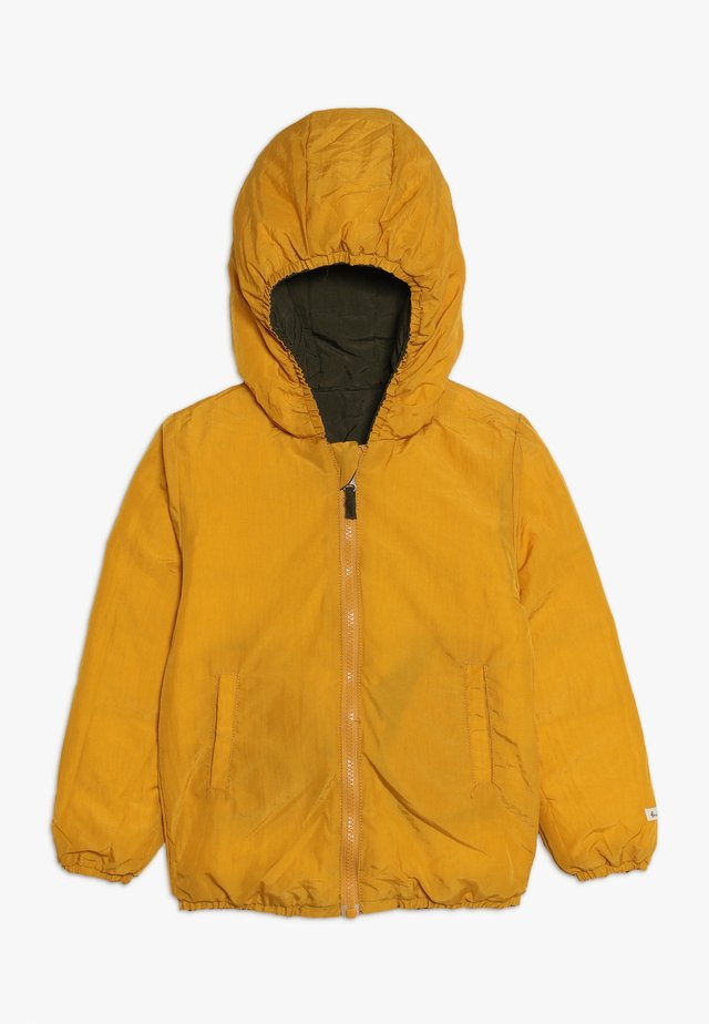 SNOW JACKET BABY  - Down jacket - amber yellow/orion blue