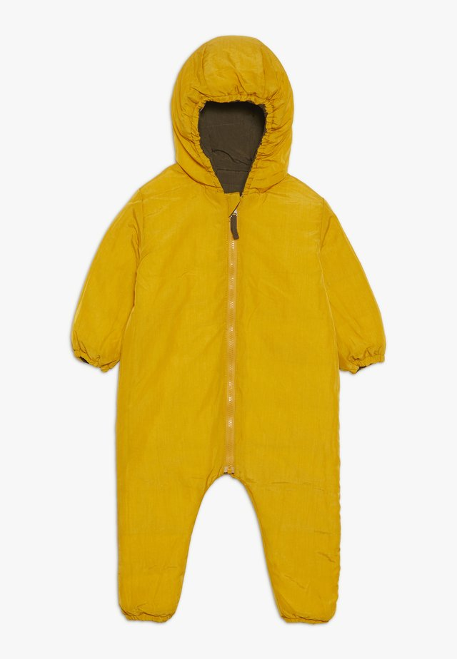 SNOW SUIT BABY  - Snowsuit - yellow/khaki