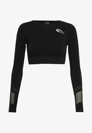 CROPPED LONGSLEEVE CONFIDENCE - Long sleeved top - schwarz