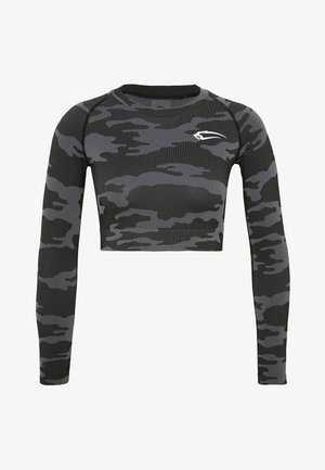 SEAMLESS CROPPED LONGSLEEVE RESERVE - Long sleeved top - black