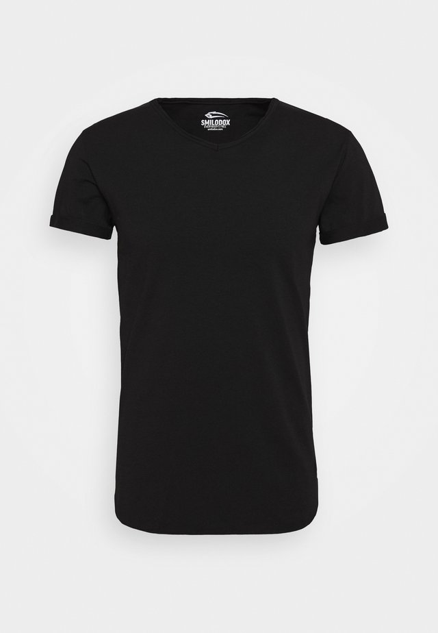 WEAVY SLIM FIT - T-paita - black
