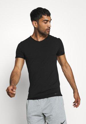 WEAVY SLIM FIT - Jednoduché triko - black