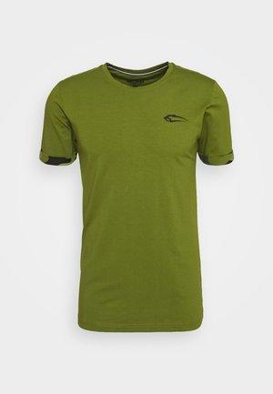 Print T-shirt - grün/schwarz