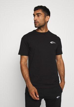 REGULAR FIT BASE - Jednoduché triko - black