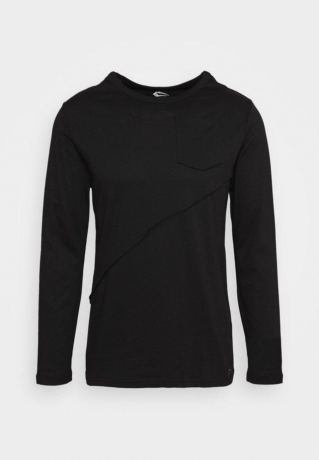 LONGSLEEVE LINE - Bluzka z długim rękawem - schwarz