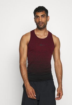 SEAMLESS STRINGER CROSS - Toppe - bordeaux