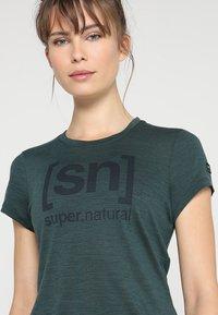 super.natural - ESSENTIAL TEE - Funktionstrøjer - sea moss - 3