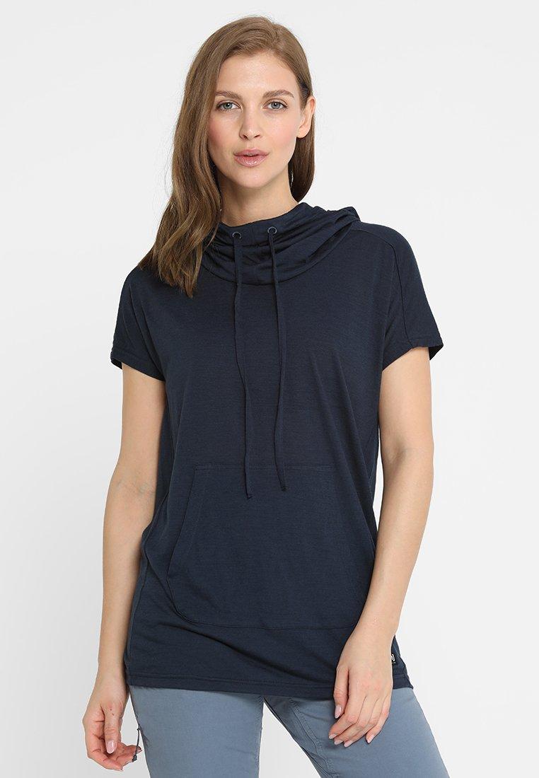 super.natural - FUNNEL TEE - T-Shirt print - navy blazer