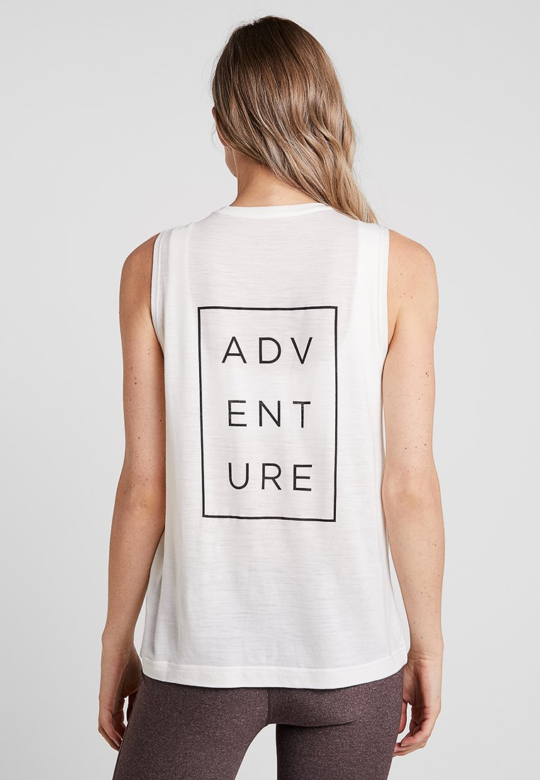 super.natural - CITY TANK MY GRAPHIC - Funktionsshirt - fresh white