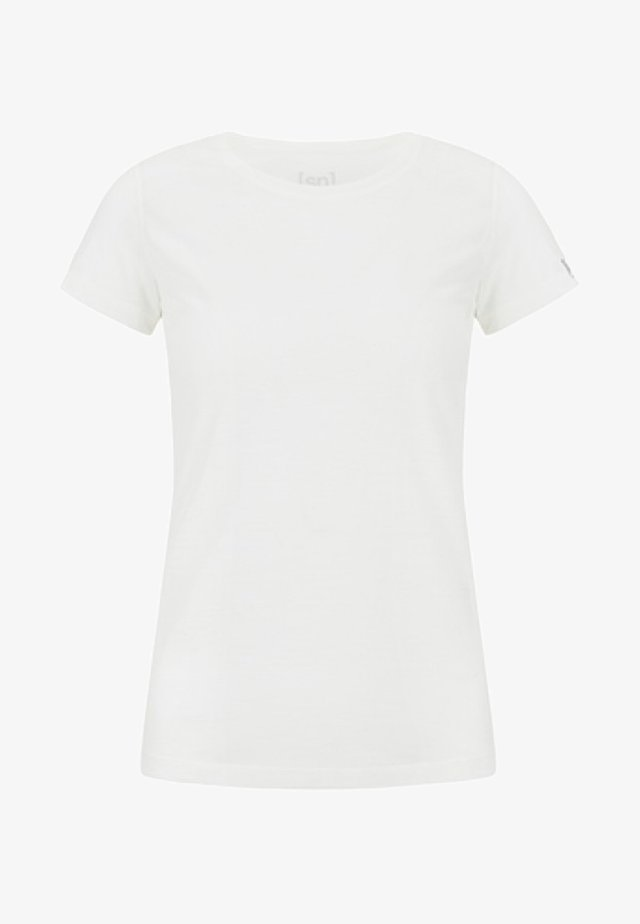 W BASE TEE - Basic T-shirt - white