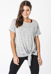 super.natural - W KNOT TEE - Print T-shirt - grey - 0
