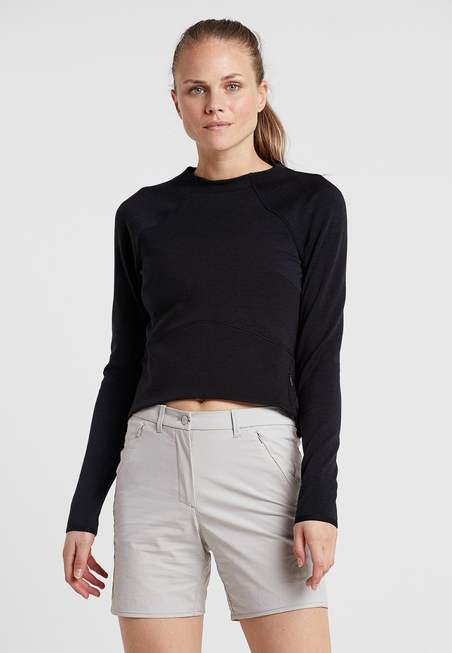 SUPER CROP - Neule - jet black