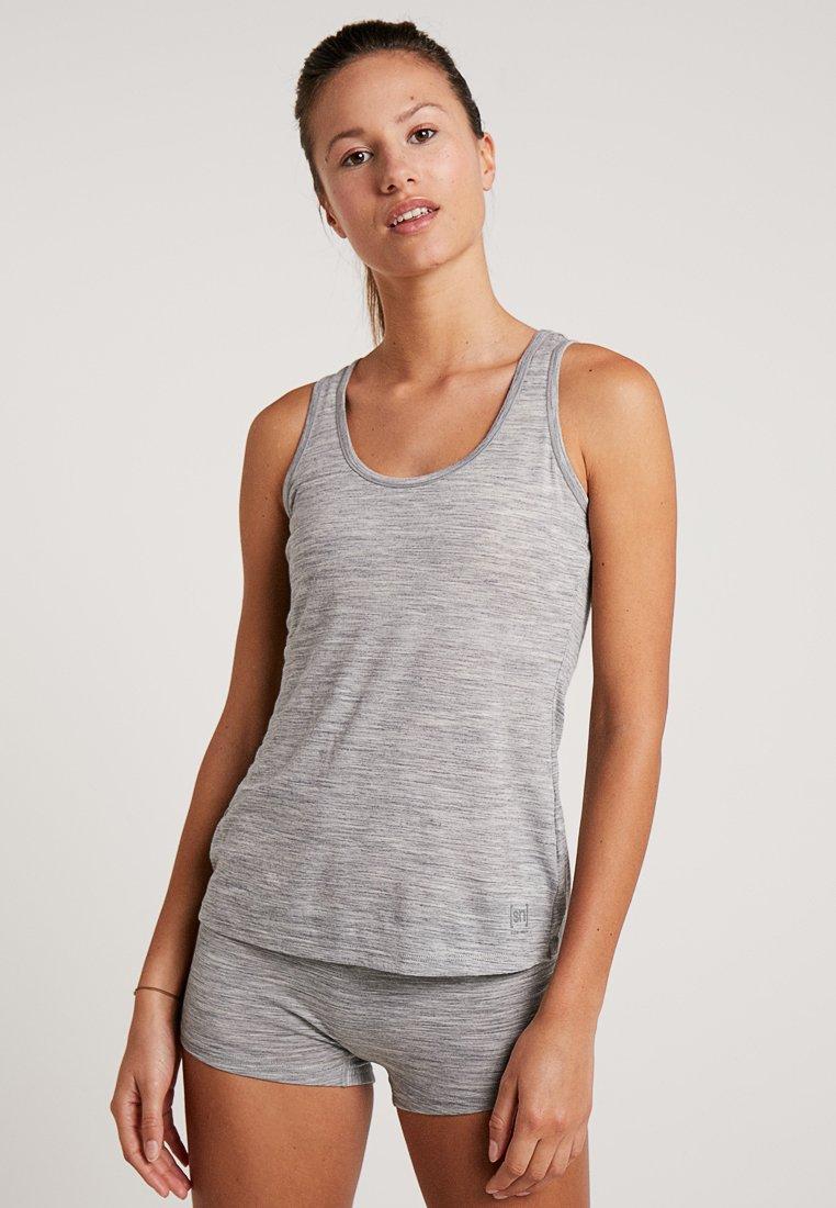 super.natural - BASE TANK  - Undershirt - ash melange