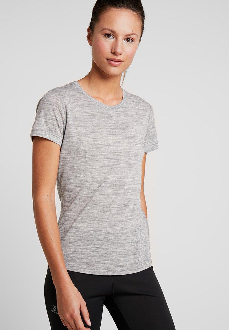 super.natural - BASE TEE - T-Shirt basic - ash melange