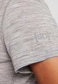super.natural - BASE TEE - Jednoduché triko - ash melange - 5