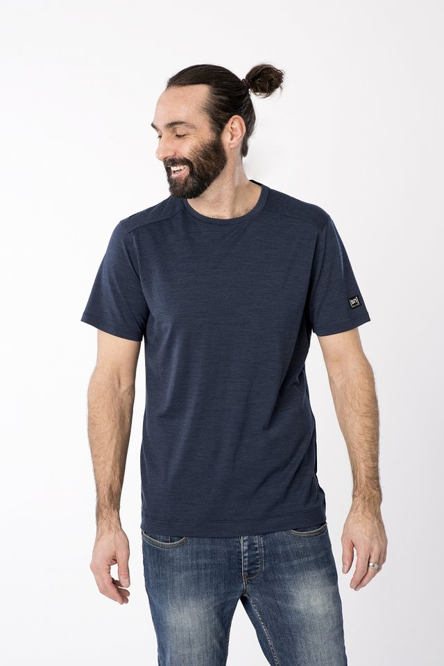 ASHER - Basic T-shirt - dark blue