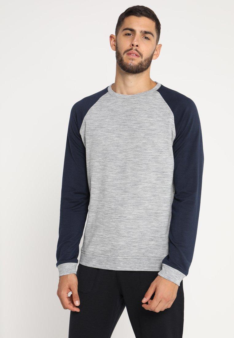 super.natural - ESSENTIAL RAGLAN CREW - Sweatshirt - ash melange/navy blazer