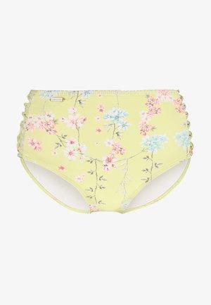PANTS HIGHWAIST - Spodní díl bikin - yellow