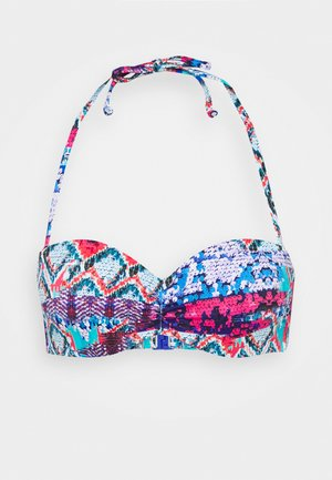 WIRE BAND - Bikini top - blue/pink