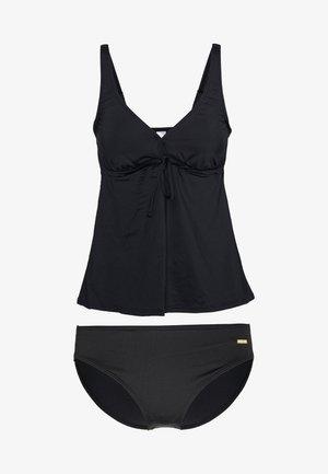 WIRETANKINI SET - Swimsuit - black solid
