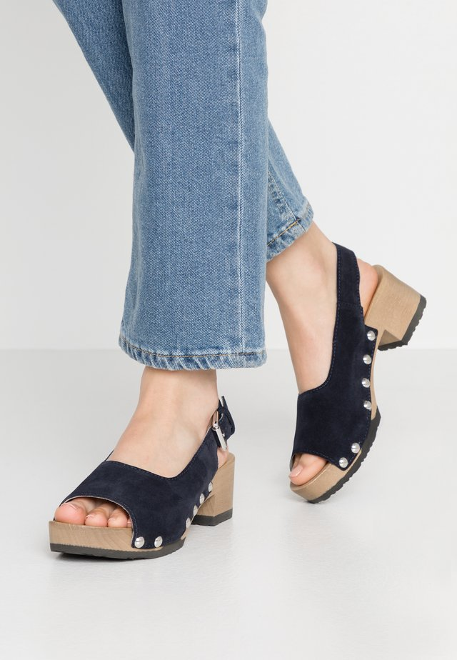 PINA - Clogs - lightblue/dark ocean
