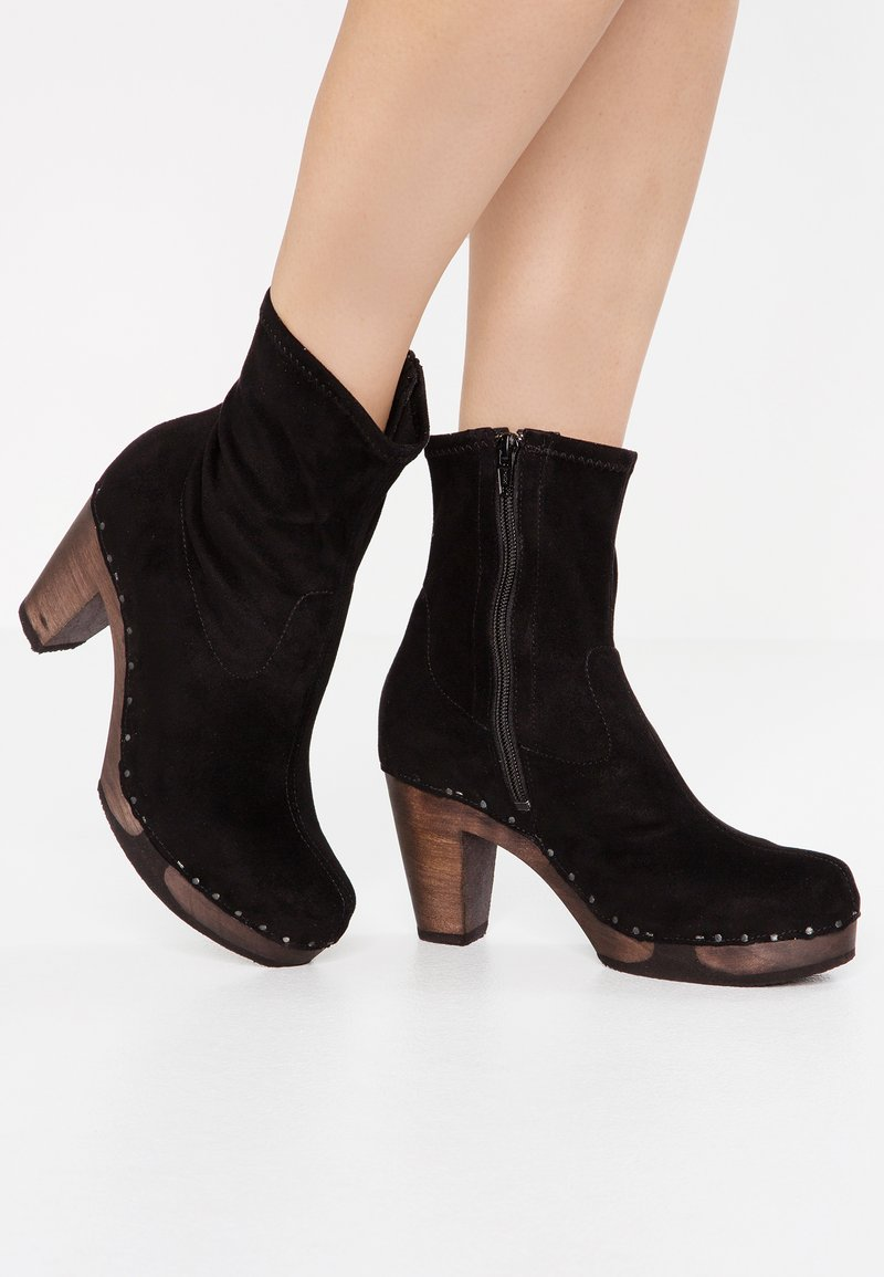 Softclox - FERDA VEGAN - High Heel Stiefelette - schwarz