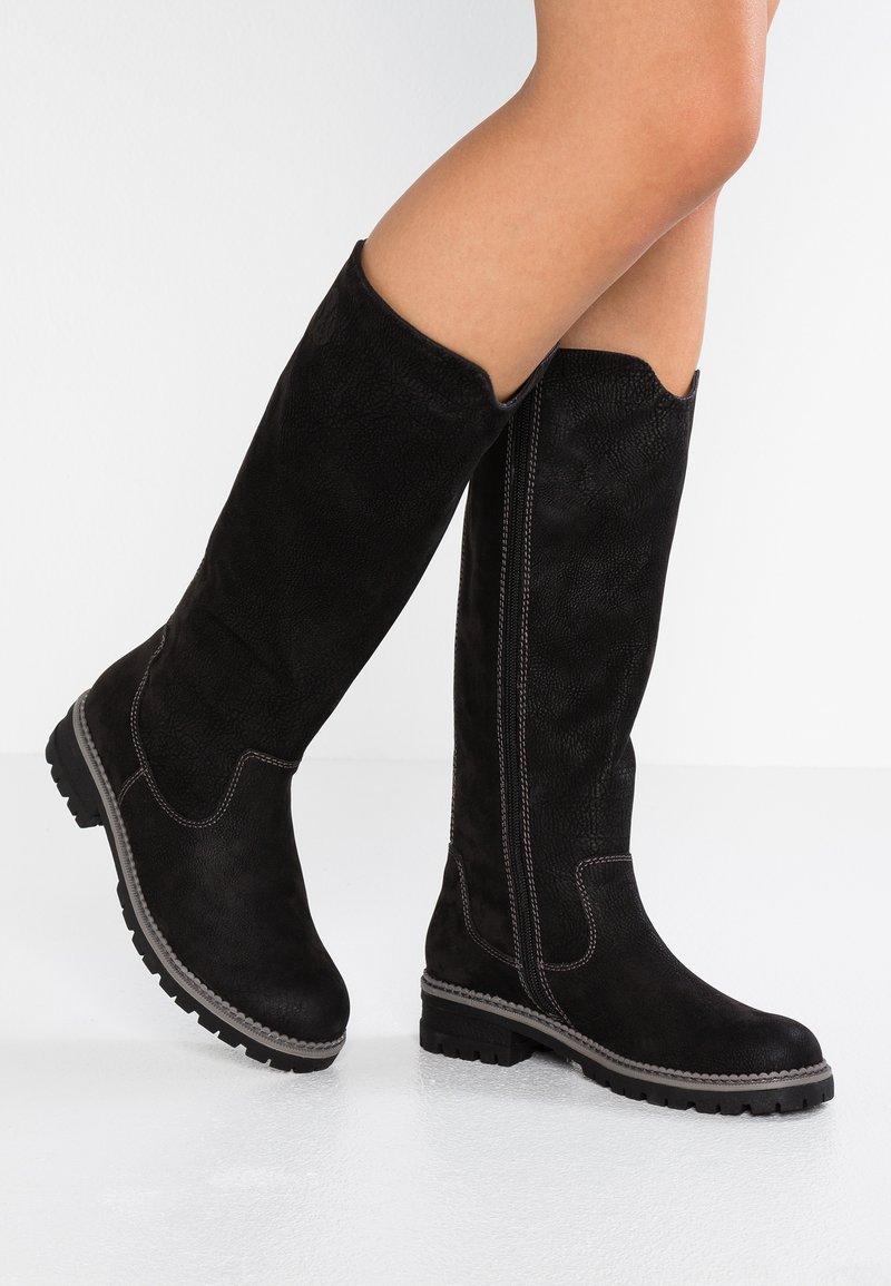 s.Oliver - Høje støvler/ Støvler - black