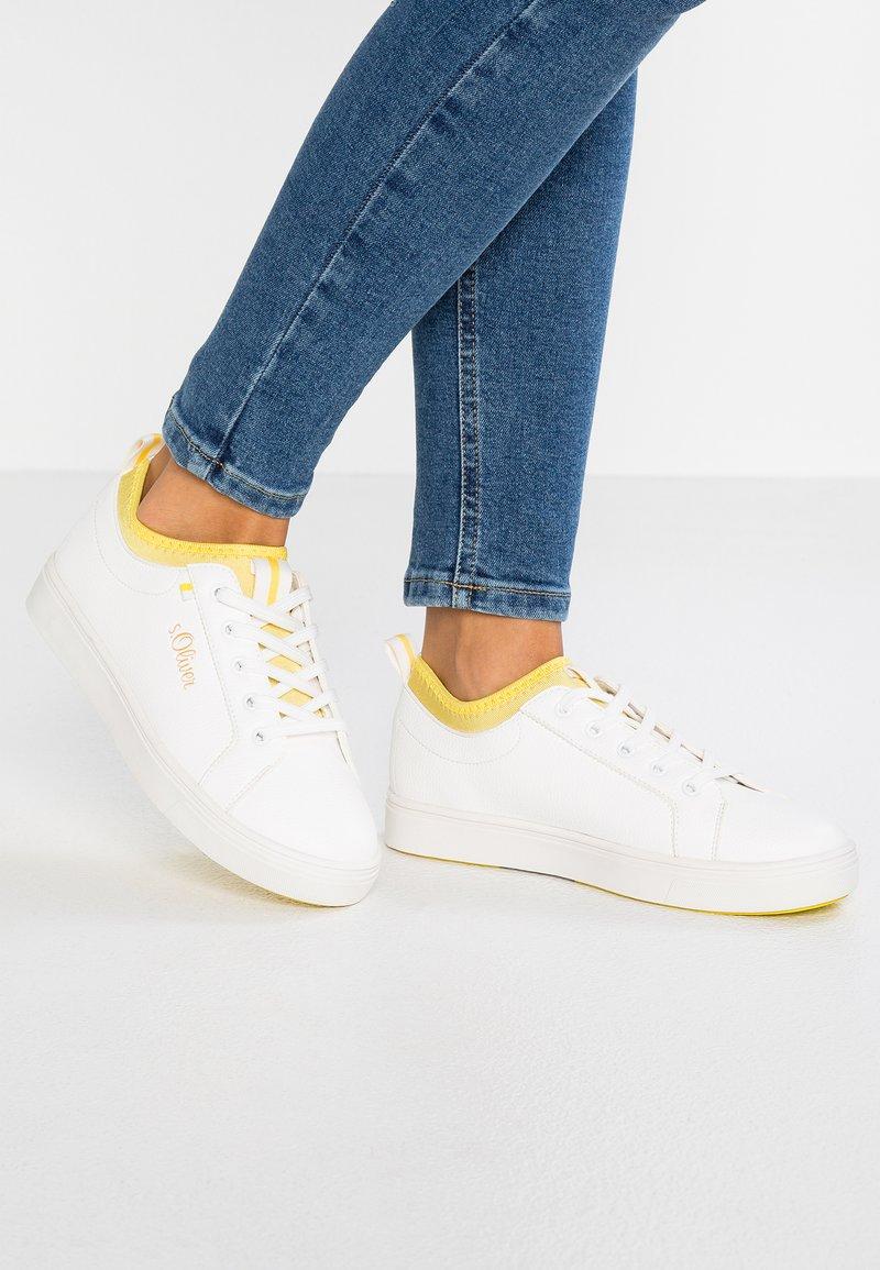 s.Oliver - Tenisky - white/yellow