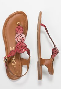 s.Oliver - T-bar sandals - bright red - 3