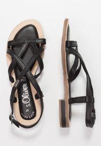 s.Oliver - Sandals - black - 3