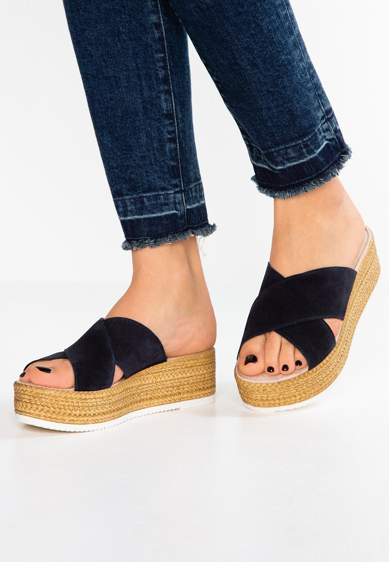 s.Oliver - Heeled mules - navy