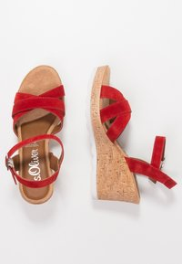 s.Oliver - Platform sandals - lipstick - 3