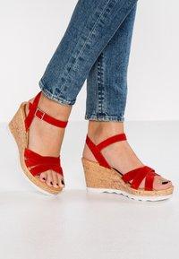 s.Oliver - Platform sandals - lipstick - 0