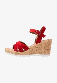 s.Oliver - Platform sandals - lipstick - 1