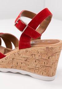 s.Oliver - Platform sandals - lipstick - 2