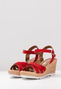 s.Oliver - Platform sandals - lipstick - 4
